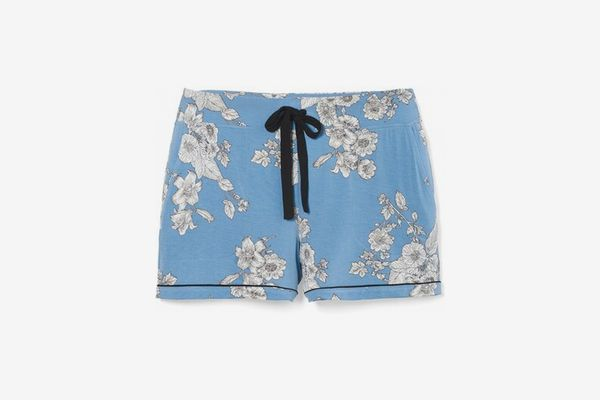 Soma Cool Nights Pajama Shorts With Grosgrain Trim Elaborate Sketch Allure