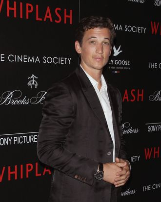 NEW YORK, NY - SEPTEMBER 29: Actor Miles Teller attends The Cinema Society & Brooks Brothers screening of Sony Pictures Classics'