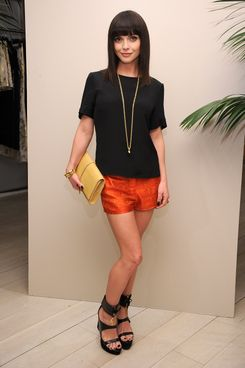 Actress Christina Ricci attends the Maiyet launch celebration at Barneys New York on March 15, 2012 in New York City.