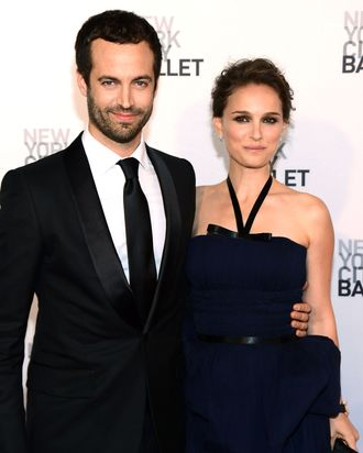 Dancer/actor Benjamin Millepied and actress Natalie Portman attend New York City Ballet's 2012 Spring Gala at David H. Koch Theater, Lincoln Center on May 10, 2012 in New York City.
