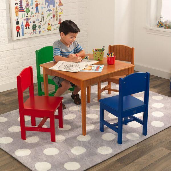 KidKraft Nantucket Kids Five-Piece Writing Table and Chair Set