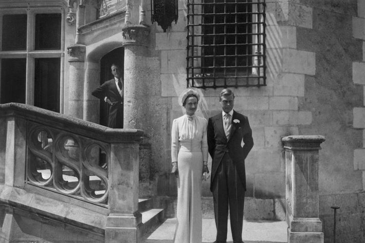 Wallis Simpson and Prince Edward at their wedding.