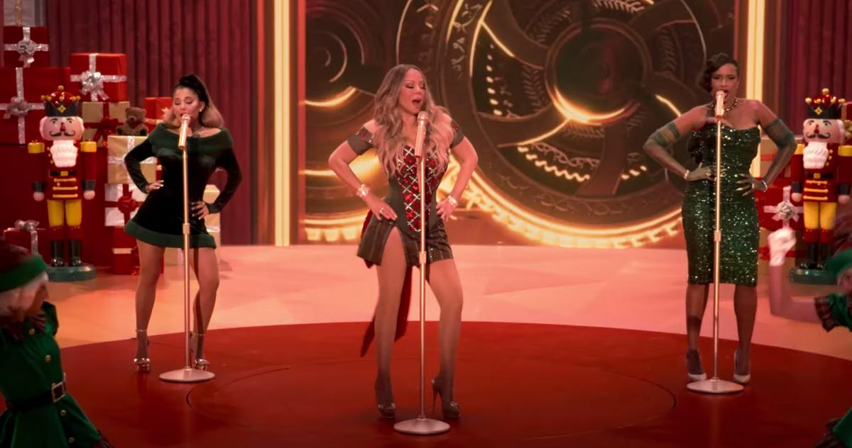 Santa Calls in Backup in the Mariah Carey's Magical Christmas Special... image