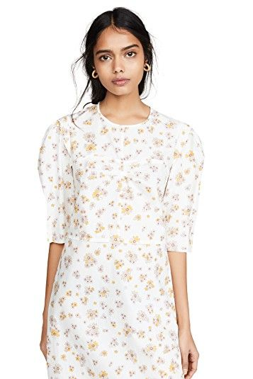 See by Chloe Puff Sleeve Floral Dress