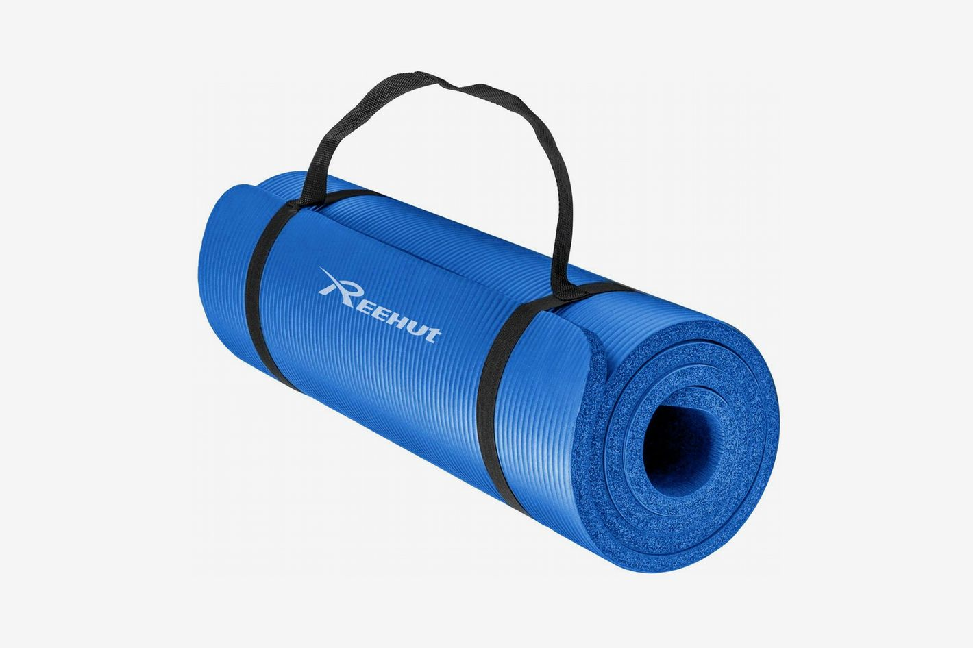 REEHUT /2-Inch Extra Thick High Density Yoga Mat with Carrying Strap