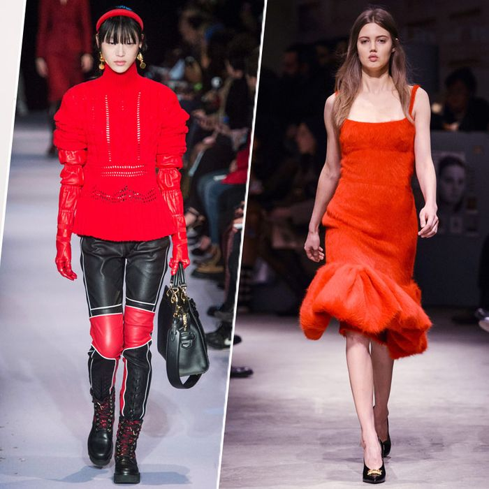 Red On The Runway Makes Fall 2017 Color And Statement Trends