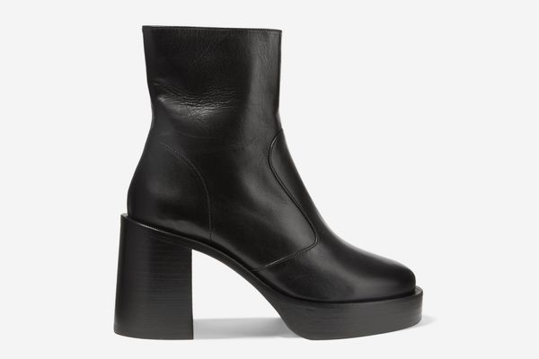 Low Raid Leather Platform Ankle Boots