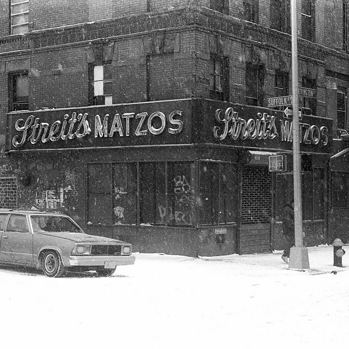 The storefront at the corner of Rivington and Suffolk, circa 1993.