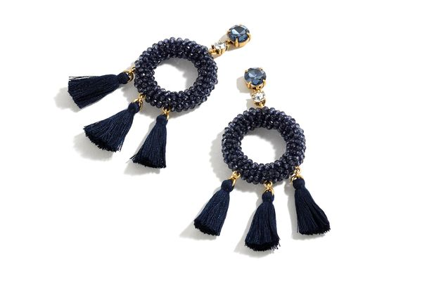 Stone and Tassel Earrings