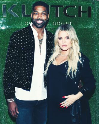 Tristan Thompson and Khloe Kardashian.