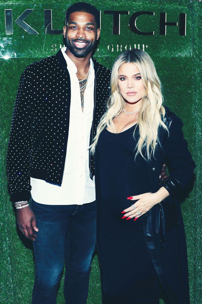 Tristan Thompson and Khloe Kardashian.