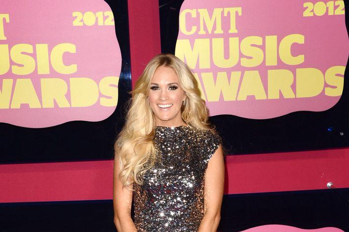 NASHVILLE, TN - JUNE 06:  Singer Carrie Underwood arrives at the 2012 CMT Music awards at the Bridgestone Arena on June 6, 2012 in Nashville, Tennessee.  (Photo by Jason Merritt/Getty Images)