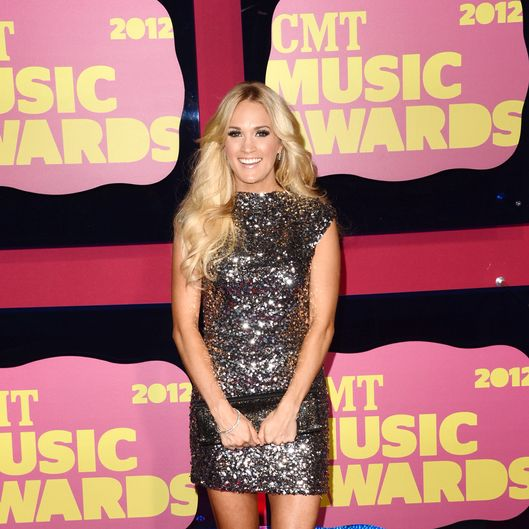 NASHVILLE, TN - JUNE 06:  Singer Carrie Underwood arrives at the 2012 CMT Music awards at the Bridgestone Arena on June 6, 2012 in Nashville, Tennessee.  (Photo by Jason Merritt/Getty Images)