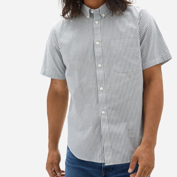 Everlane Slim Fit Performance Air Oxford Short-Sleeve Shirt