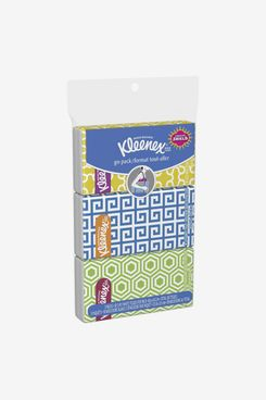 Kleenex Go Pack Facial Tissue, 3-Ply, White, 10 Sheets/Pouch, 3 Pouches/Pack