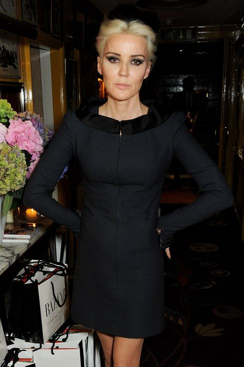 Daphne Guinness attends the Harper's Bazaar London Fashion Week SS14 closing party at Annabel's on September 17, 2013 in London, England.