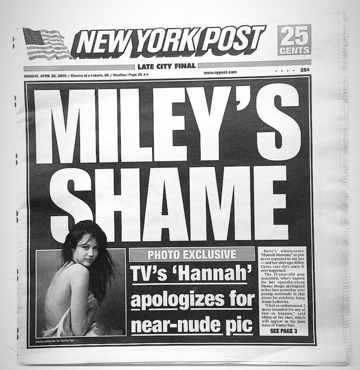 Did miley go nude — 1