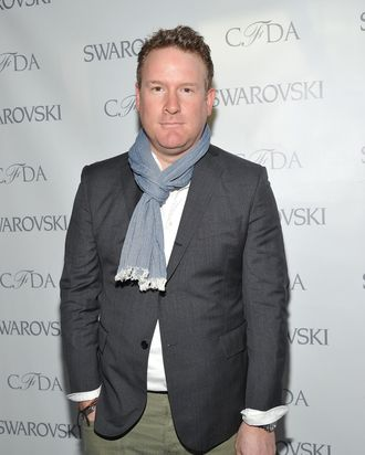 NEW YORK, NY - MARCH 14: Fashion designer Todd Snyder attends the 2012 CFDA Awards Nominee & Honoree announcement at Diane Von Furstenberg on March 14, 2012 in New York City. (Photo by Mike Coppola/Getty Images)