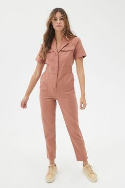BDG Lizzy Short-Sleeved Coverall Jumpsuit