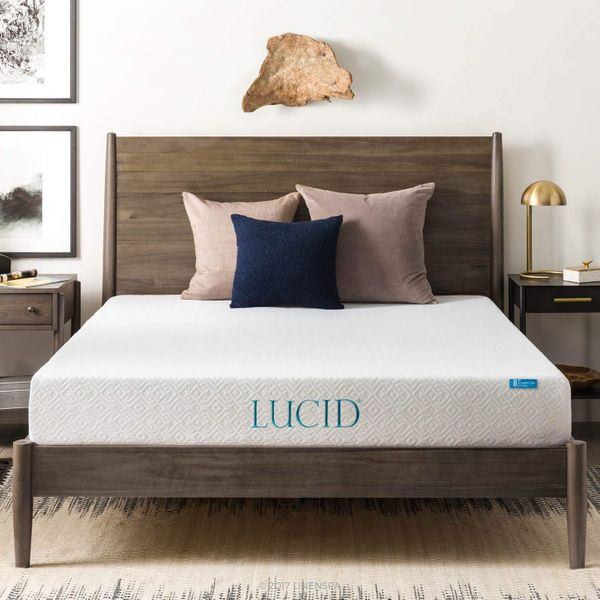Lucid 8 Inch Gel Infused Memory Foam Mattress - Queen