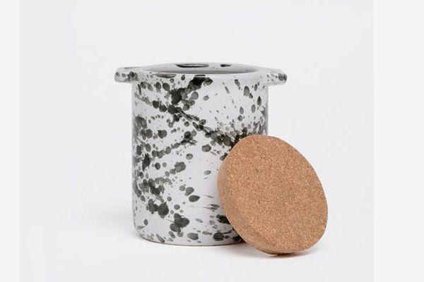 Splash Ceramic Dog Treat Jar & Bowl