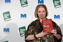 British author Hilary Mantel is pictured with her historical fiction novel 'Wolf Hall' after being awarded the 2009 Man Booker prize at the Guildhall in London on October 6, 2009.  AFP PHOTO/Ben Stansall (Photo credit should read BEN STANSALL/AFP/Getty Images)