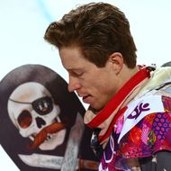 SOCHI, RUSSIA - FEBRUARY 11: Shaun White of the United States reacts after competing in the Snowboard Men's Halfpipe Finals on day four of the Sochi 2014 Winter Olympics at Rosa Khutor Extreme Park on February 11, 2014 in Sochi, Russia. (Photo by Cameron Spencer/Getty Images)