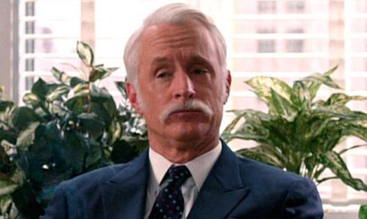 Roger Sterling's New Mustache Is Amazing Vulture