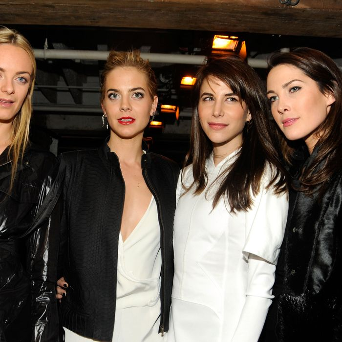 From left: Virginie Courtin-Clarins, Jenna Courtin-Clarins, Caroline Sieber, and Prisca Courtin-Clarins.