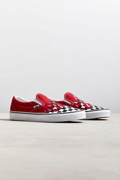 Vans Slip-On Checkerboard Flame Sneaker