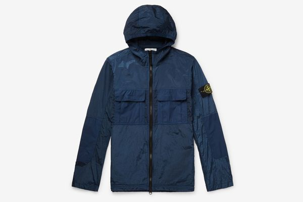 Stone Island Logo-Appliquéd Shell-Panelled Ripstop Hooded Jacket