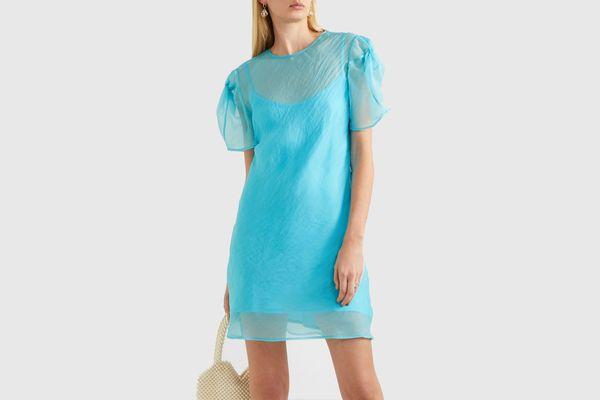 Maggie Marilyn + NET SUSTAIN Take It Back Silk-Organza Mini Dress