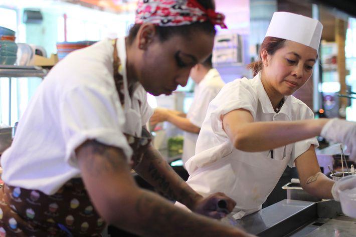 Mission Chinese executive chef Angela Dimayuga, and Mission Cantina chef Alison Rivera.