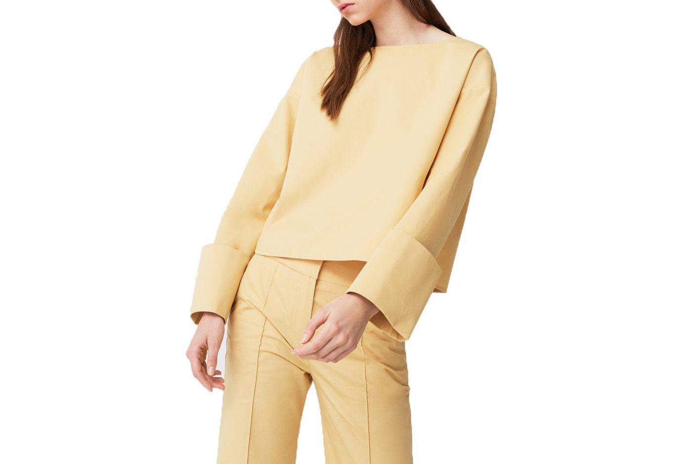 Mango Folded Cuffs Blouse