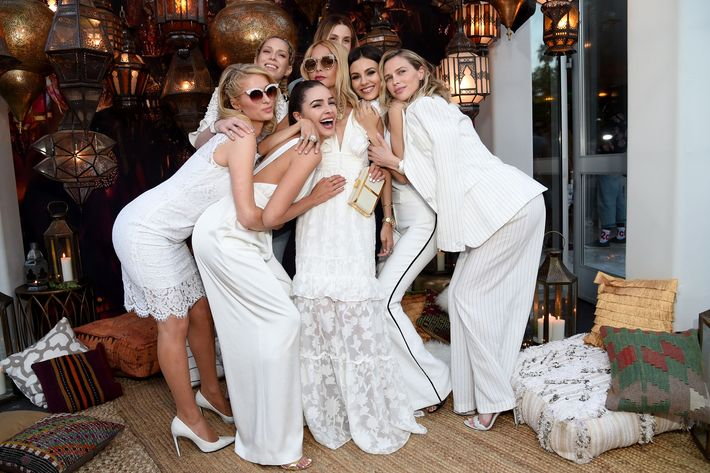 Paris Hilton, Erin Foster, Olivia Culpo, Rachel Zoe, Whitney Port, Victoria Justice and Sara Foster attend Rachel Zoe's 4th Annual ZOEasis at Parker Palm Springs