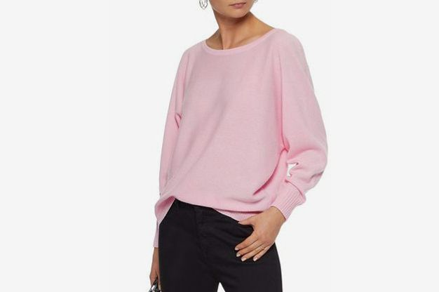 Iris & Ink Eve two-tone cashmere sweater