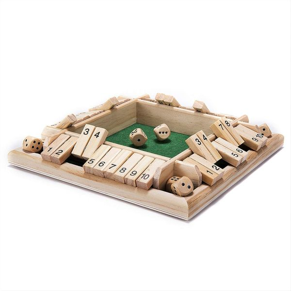 Amerous Shut the Box Wooden Mathematic Game