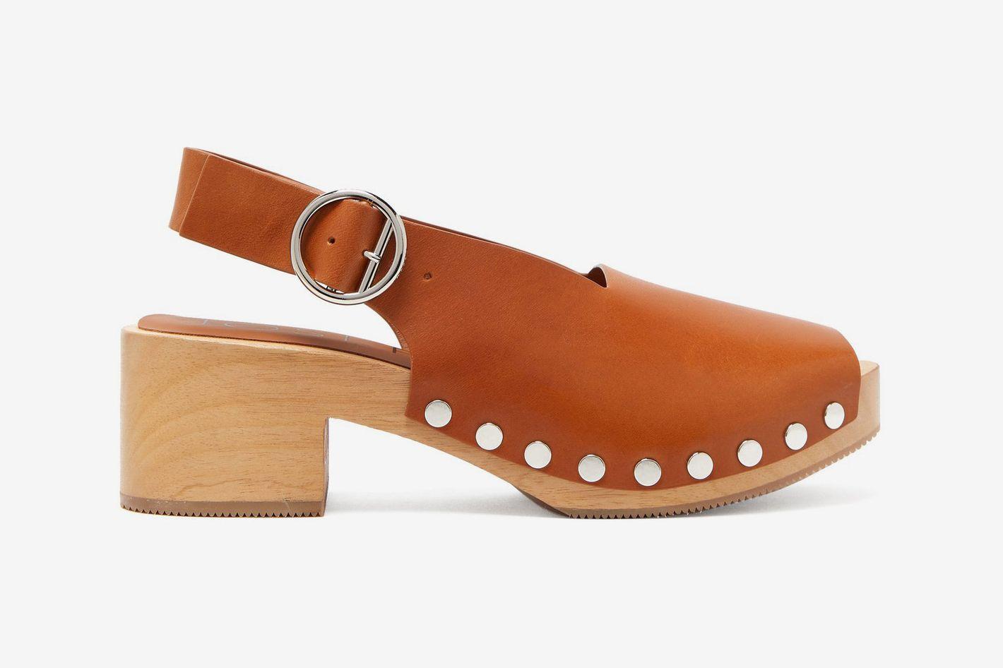 Joseph Studded Leather Clogs