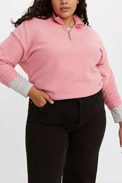 Levi's Pom Quarter-Zip Sweatshirt (Plus Size)
