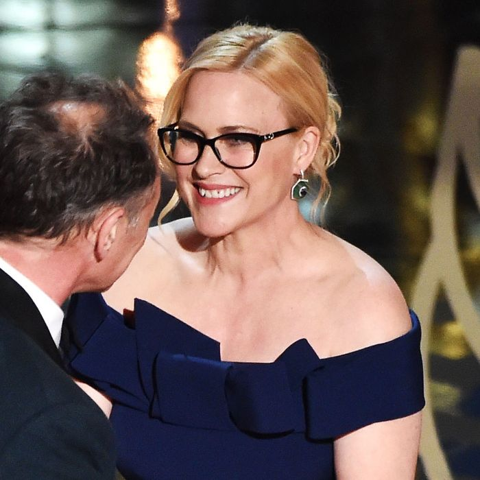 36bca2df9fd Great Oscars Trend  Ladies Wearing Glasses. By Eve Peyser. Patricia  Arquette can see so well!
