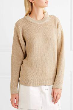 Vanessa Bruno Hodaya Metallic Ribbed-Knit Sweater