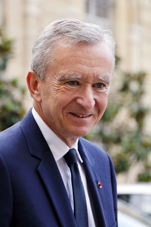 Luxury group LVMH CEO Bernard Arnault leaves the Matignon Hotel in Paris after a meeting with French Prime minister Jean-Marc Ayrault.