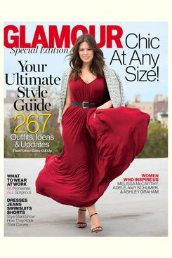Ashley Graham on the cover of Glamour