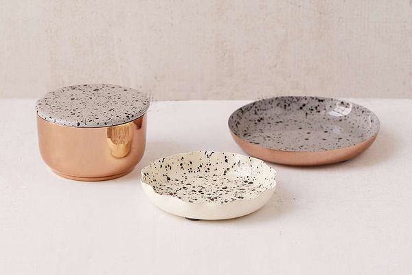Splattered Enamel Table-Top Organizer Set