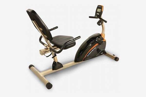 EXERPEUTIC Weight Capacity Recumbent Exercise Bike with Pulse