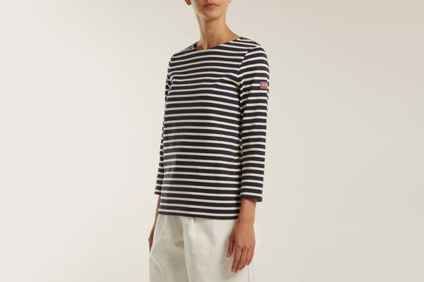 A.P.C. Nikki long-sleeved striped cotton top