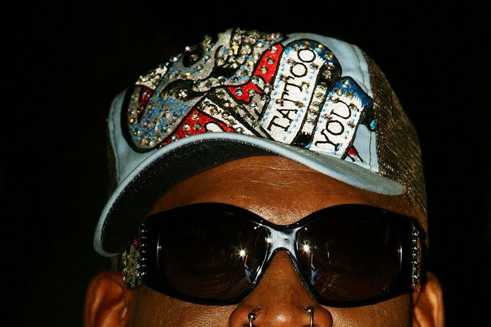 Dennis Rodman attends the Battle of the Codes poker game held at Star City March 20, 2008 in Sydney, Australia.