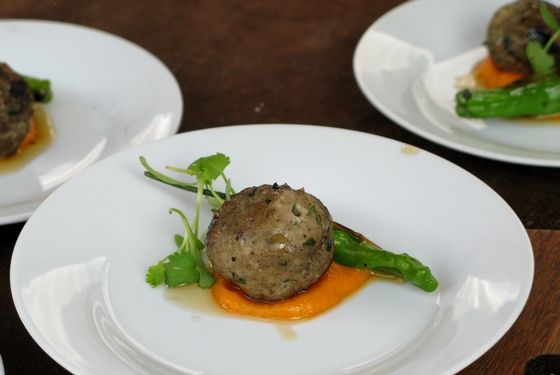 We were dying to experience David LeFevre's touch with seafood, but had no complaints about his veal and pork meatballs.