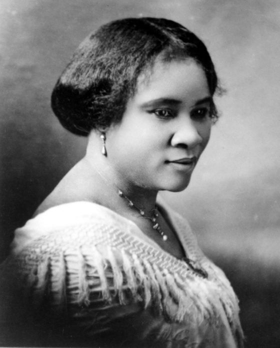 "A daughter of slaves, Madame C.J. Walker developed a range of African-American hair-care products and became the first self-made female millionaire in America. Eventually opening a factory and a beauty school, the self-styled ""hair culturalist"" wanted ""the great masses of my people to take a greater pride in their personal appearance and to give their hair proper attention."" An early civil-rights advocate, Madame Walker gave generously to historically black colleges and universities, the YMCA, and the NAACP."