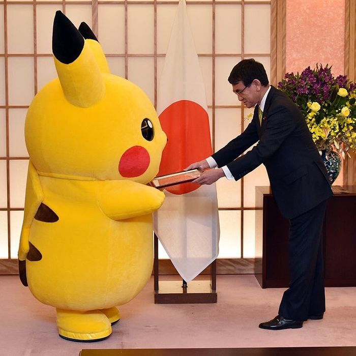 pikachu and hello kitty made ambassadors in japan